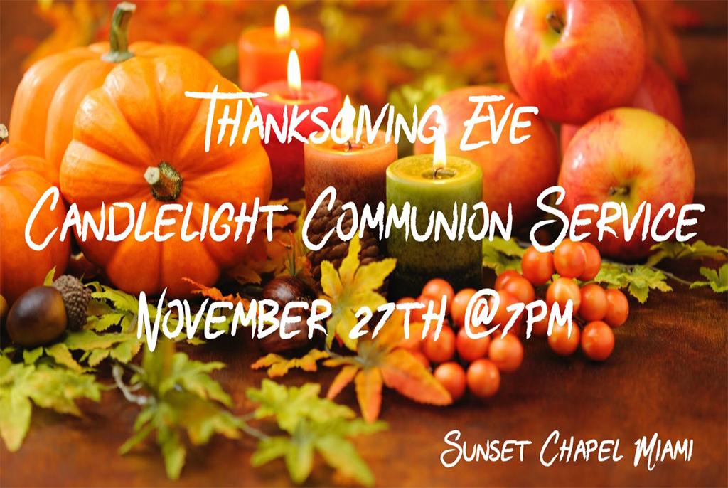 Thanksgiving Eve Candlelight Service